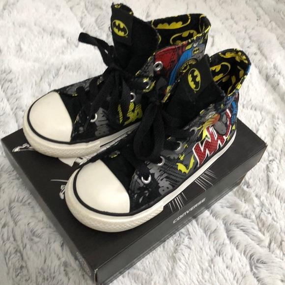 f08580e7cdbb Converse Other - Converse kids size 9 Batman high tops